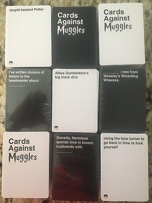 Printed Cards Against Muggles-Cards Against Humanity NSFW Harry Potter 453 Cards