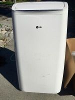 LG Portable Air Conditioner A/C Used2X Complete:Duct,WindowFittings+R/C 8000 BTU