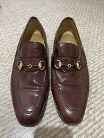 Vintage Gucci Mens Horsebit Leather Slip On Loafers Shoes - Size EU M 44.5 US 10