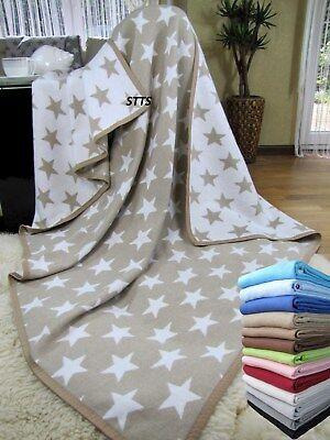 SALE ! Wohndecke Baumwolldecke 140x205cm 100% Baumwolle Kuscheldecke Beige-Weiß