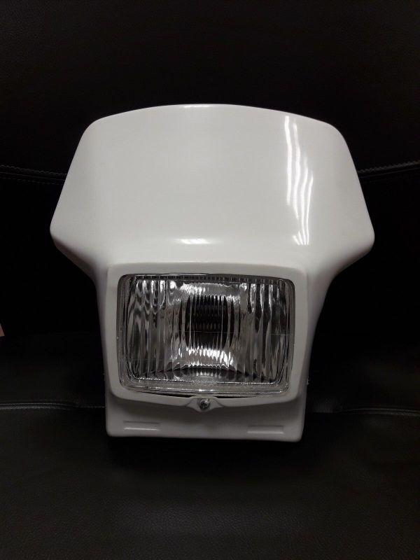 mascherina portafaro yamaha tt 350 / 600 59x cemoto colore bianco 2400C 1