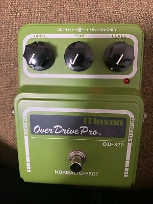 Maxon OD820 OD-820 Overdrive Guitar Effects Pedal From Japan