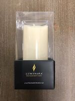 "Luminara 3""x 6.5"" Pillar Real Flame Effect"