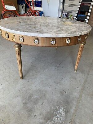 1900 1950 marble top coffee table