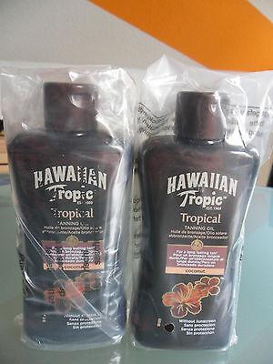 2 x Hawaiian Tropic-Sonnenöl-TANNING OIL-Coconut- 2 x 200 ml-NEU & OVP-NUR 3Tage
