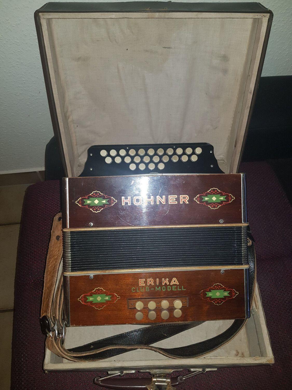 Hohner Erica Club - Modell Knopf Akkordeon Sehr Selten