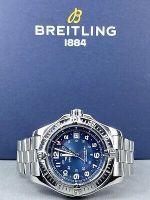 BREITLING COLT STAINLESS STEEL 41mm BLUE DIAL Quartz MEN'S WATCH Ref A74380