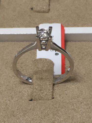 Gr. 54 Antragsring Verlobungsring 585er Gold Solitär Diamantring Brillantring