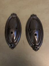 Pair Antique Brass Wall Sconce Back Plate Light Lamp Parts ... on Wall Sconce Parts id=80367