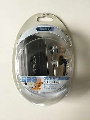 Vivanco SRE 80 Kopfhörer Ohrstöpsel für MP3 Player, etc. mit Etui schwarz Neu