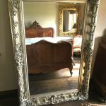 Antique Silver Large French Leaner Ornate Statement Dress Wall Floor Mirror 6ft Ebay