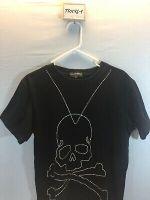 Rare Large Mastermind Japan Black Bedazzled Skull T-Shirt
