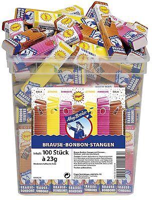 (1000g=7,82€) Frigeo Brause Bonbon Stangen - Ahoj Brause - 100 Stück