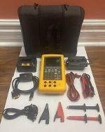 Fluke 743B Documenting Process Calibrator with Leather Case and Misc accessories