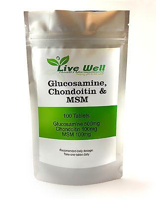 Glukosamin, Chondroitin, & Msm Komplex für Gelenke Verschiedene Packungsgrößen