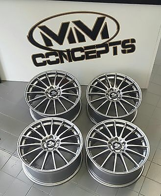 18 Zoll UA4 Alu Felgen 8x18 et48 5x112 Titan für S3 A3 GTI R AMG Performance RS