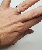 BEAUTIFUL 1.15CT DIAMOND SOLITAIRE ENGAGEMENT RING, SOLID 14k GOLD