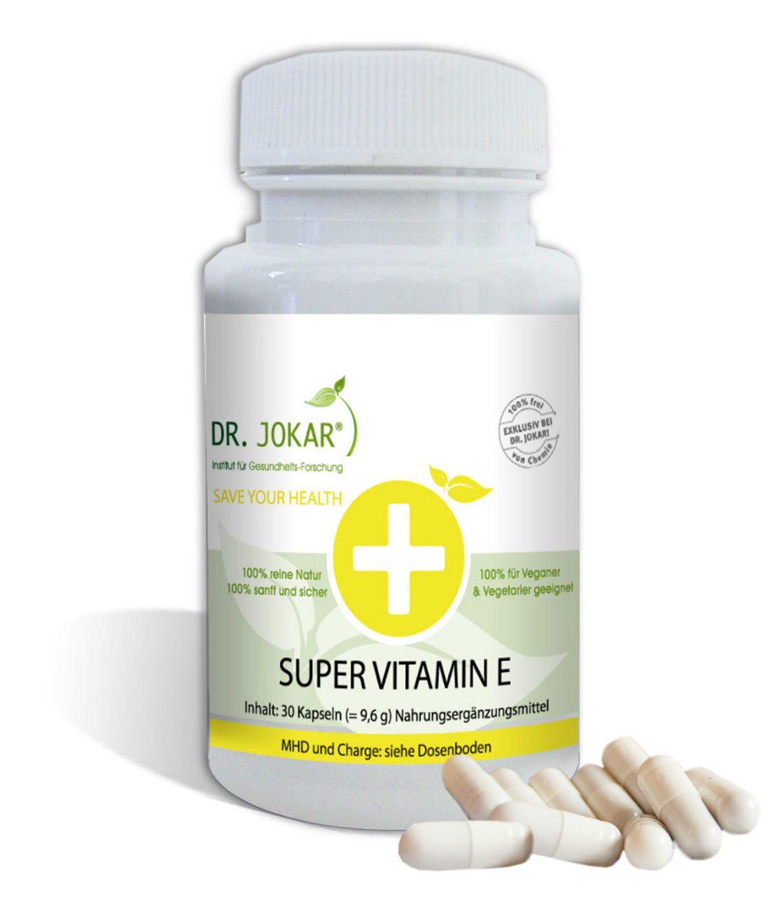 Original Super Vitamin E Kapseln – hochdosiert, natürlich, gesunde Haut Haar