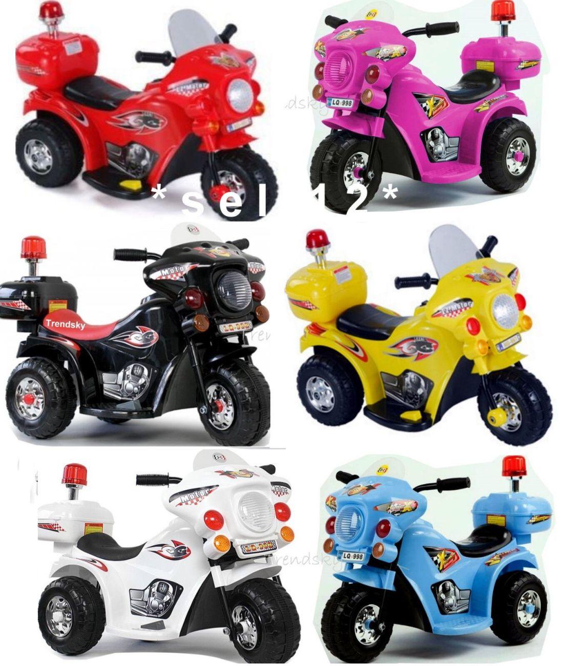 Kinder Elektro Polizei Motorrad Fahrzeug Kindermotorrad Akku Kid Elektromotorrad