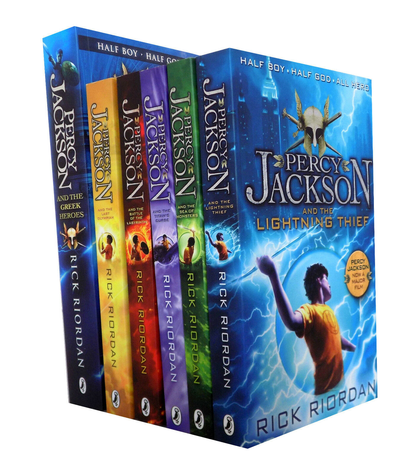 Percy Jackson Rick Riordan 6 Books Collection Pack Set Inc
