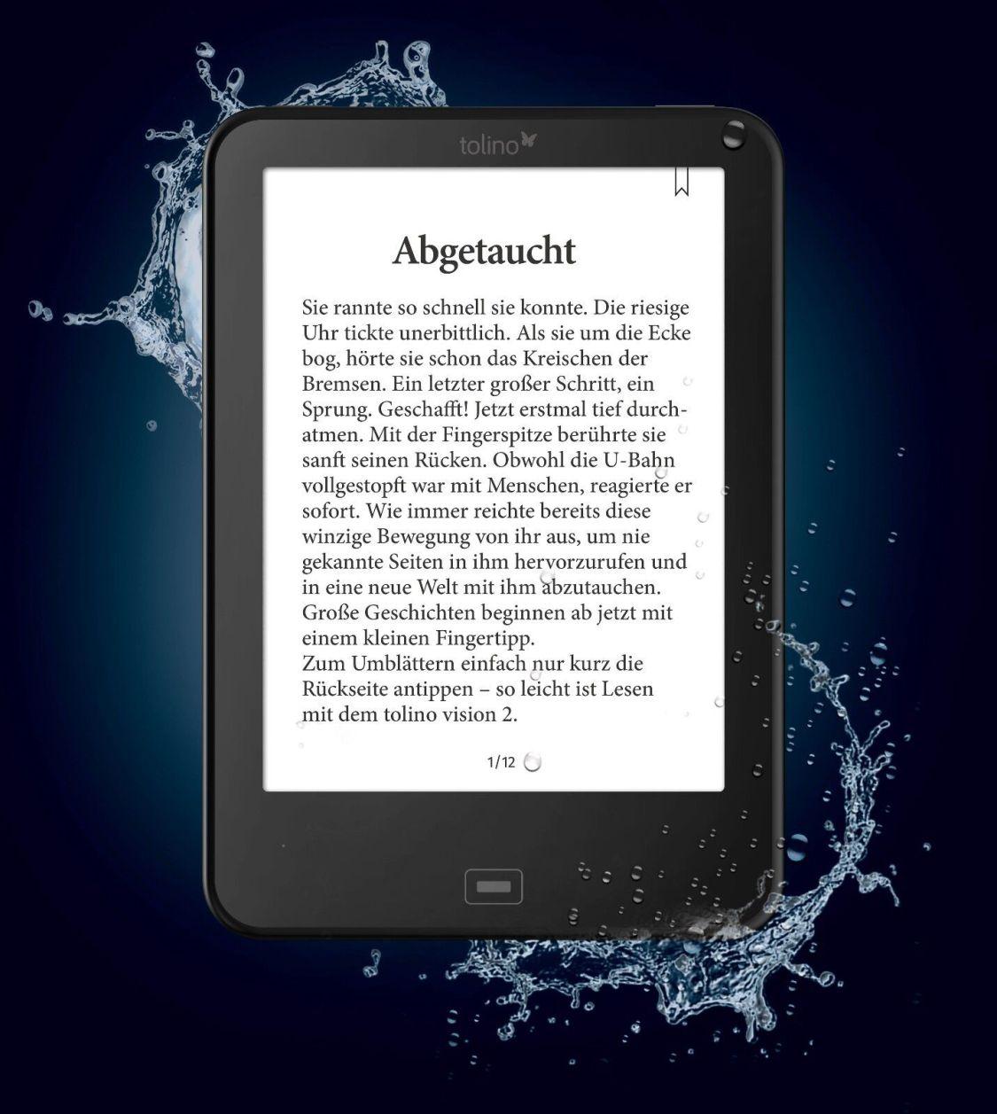 Tolino Vision 4 HD eBook-Reader schwarz    *OVP*