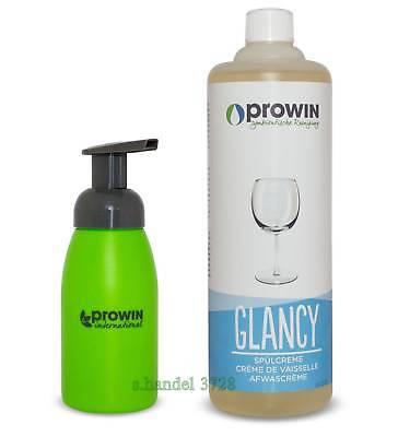 proWIN Spülmittel GLANCY 1L+Schaumspender 250ml grün...nur  16,90 ink.Versand