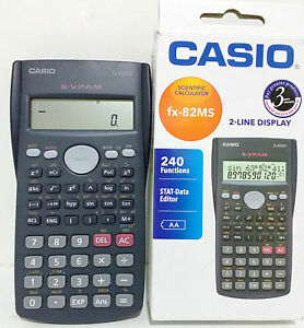 Casio FX-82MS Scientific Calculator 240 Functions 2 Line ...
