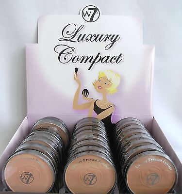w7 Luxury Compact Puder 3 Varianten neu Powder Make-Up Finish Translucent