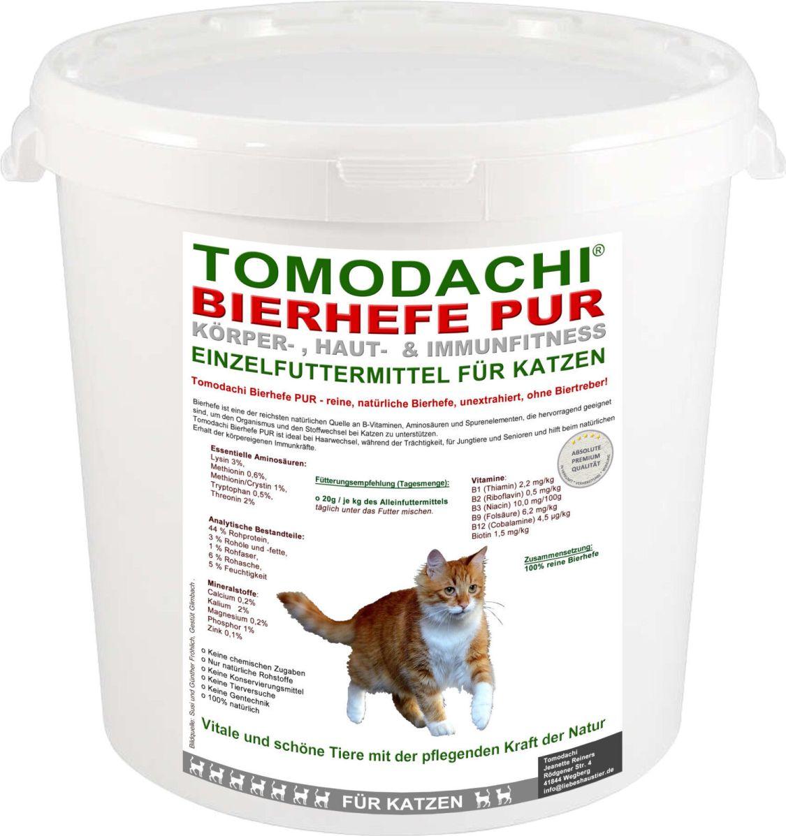 Bierhefe für Katzen, Naturprodukt, Futterzusatz, Biotin,Aminosäuren,Vitamine 4kg