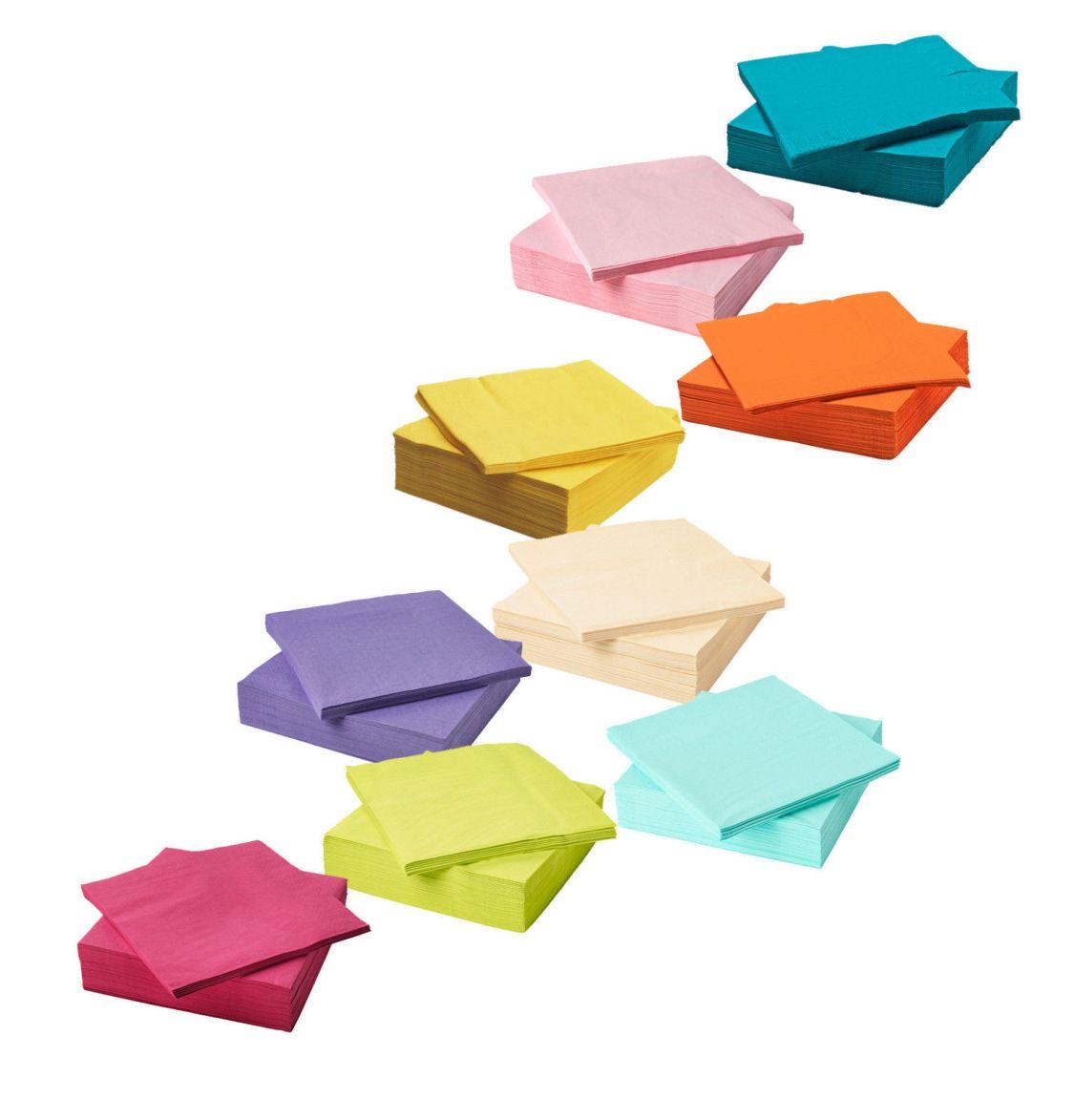 "IKEA Papierserviette ""FANTASTISK"" Servietten 40x40 cm je 50 Stück - div. Farben"