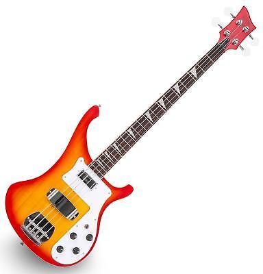 E-Bass RB Bassgitarre Longscale Humbucker Pickups Single Coil Pickups Sunburst