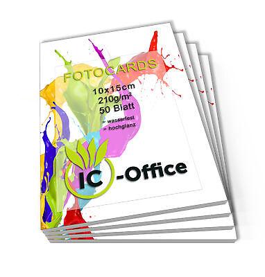 200 Blatt Fotopapier Fotokarten 10x15cm 210g/m² Fotocards glänzend weiß glossy