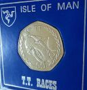 1982 Isle of Man TT Tourist Trophy Motorcycle Race 50p Coin (BU) in Gift Display