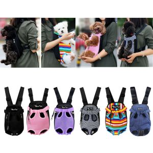 Pet Carrier Backpack Adjustable Pet Front Cat Dog Carrier Travel Bag Legs Out
