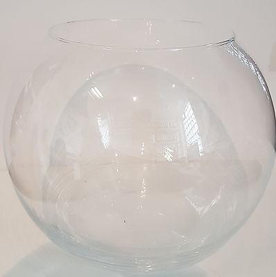 Kugelvase groß Vase mundgeblasenes Kristallglas  Durchmesser 20 cm Hohe ca.16 cm