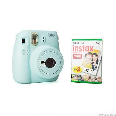 Fuji Instax Mini 9 Sofortbildkamera Sofortbild Ice Blau Sparset 20 Bilder