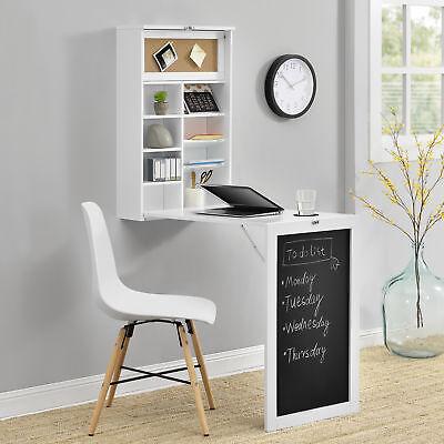 [en.casa]® Wandtisch Weiß Schreibtisch Tisch Regal Wand Klapptisch aus-klappbar