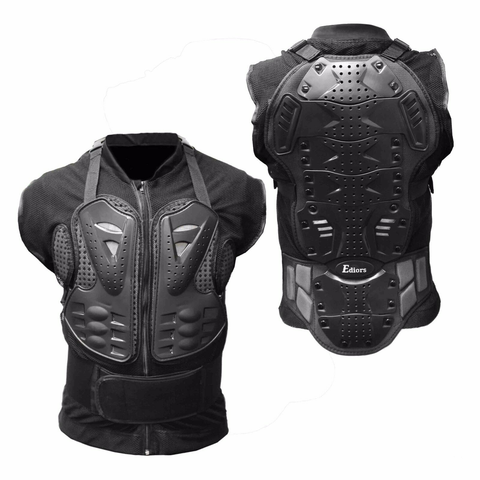 Motorcycle Body Armor Tank Shirt Jacket Street Bike Back