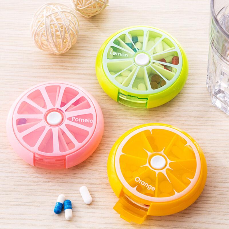 RUNDE Pillendose Medikamentenbox 7 Tage Tablettenbox Pillenbox Tablettendose