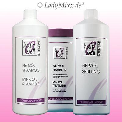 Nerzöl Shampoo/ Conditioner Spülung / Haarkur1000ml Hairwell EURODOR Silikonfrei