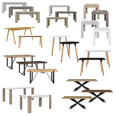[en.casa] Moderner Esstisch Tisch Esszimmer Küchentisch Retro Rund Eckig Eiche