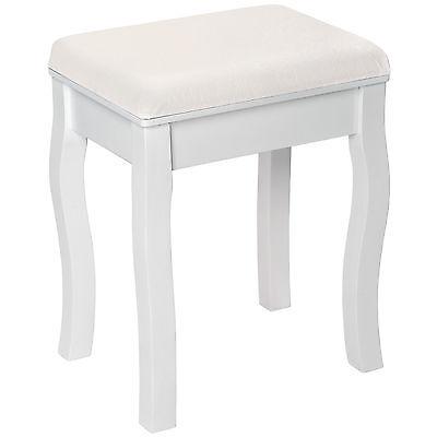 Schminktisch Hocker Schminkhocker Sitzbank Sitzhocker Holzhocker Ottomane weiß