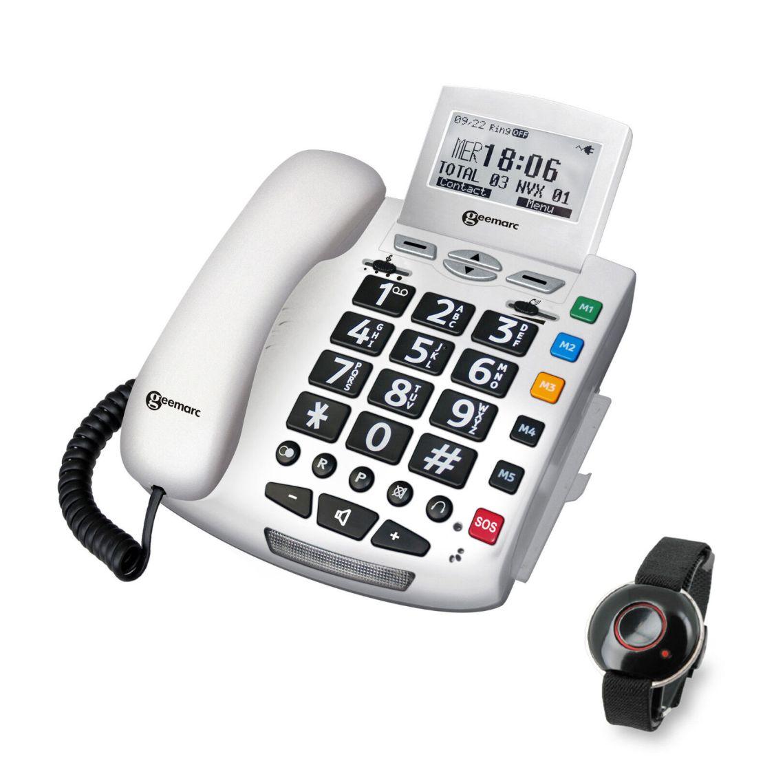 Sprechendes Notruf-Telefon & SOS Funk-Armband Geemarc Serenities Notrufarmband