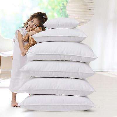2 x Allergiker Kopfkissen Kissen 60° Wäsche Baumwollbezug Faserbällchen 80x80 cm
