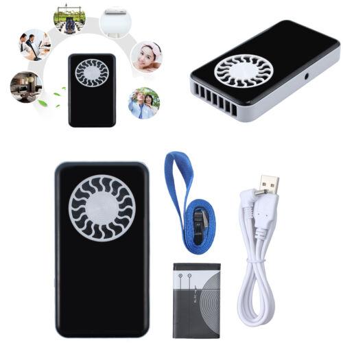 Mini Handventilator Tragbar Lüfter Taschenventilator USBladekabel Aufladbar+Akku