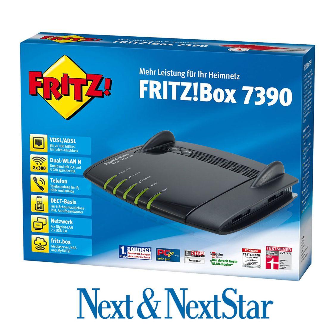 AVM FRITZBox 7390 VDSL DSL Modem Gigabit WLAN / DECT REPEATER # ⭐️TOP ⭐️
