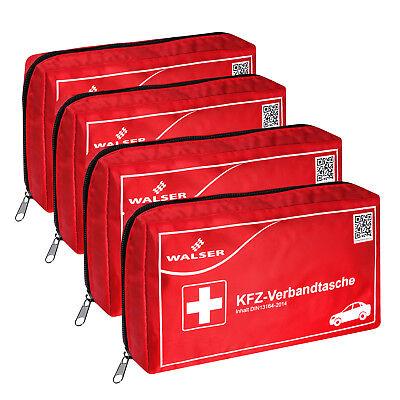 4x Verbandtasche Verbandstasche Erste-Hilfe Verbandskasten PKW DIN13164 ROT