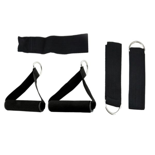 Resistance Bands Set Yoga Pilates Latex Exercise Fitness Tube Workout Band 11PCS 4