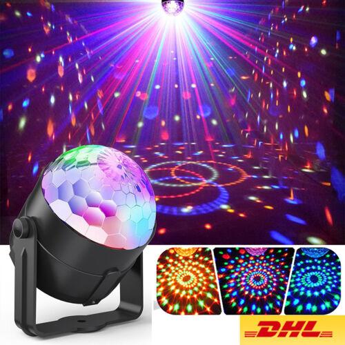 LED Discokugel Lichteffekt Magic RGB DJ Party lichtorgel Bühnenbeleuchtung DE