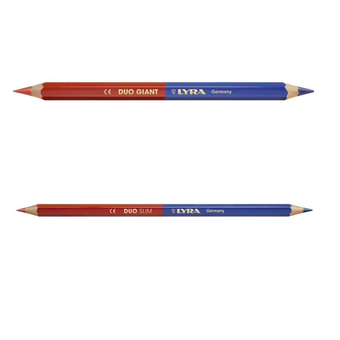 2 Stück LYRA Lehrerstift rot blau  JUMBO od SLIM  Korrekturstift  Lehrer